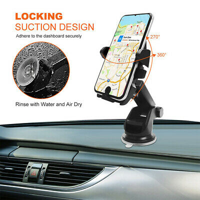 Universal Car 360° Windshield Dash Mount Cell Phone Holder for iPhone 8 Plus LG