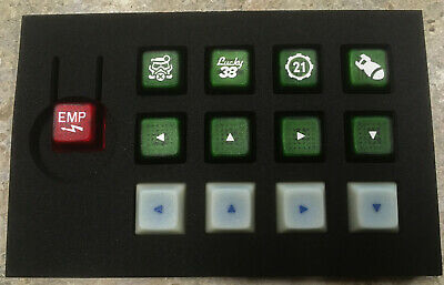 FALLOUT-INSPIRED CHERRY MX Keycaps DSA Gamer Set White on Green *Glowing  Arrows*