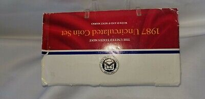 1987 Brilliant Uncirculated Us P&d Mint Set In Original Mint Cellophane