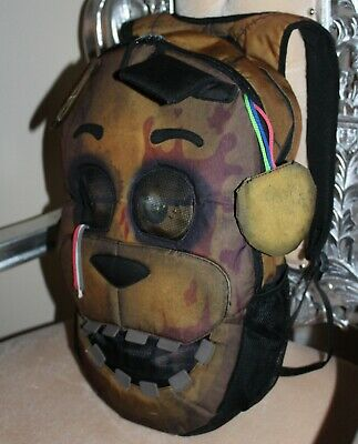FNAF AUTH FIVE Nights At Freddys Freddy Backpack Fazbear Full Size 3D Hot  Topic