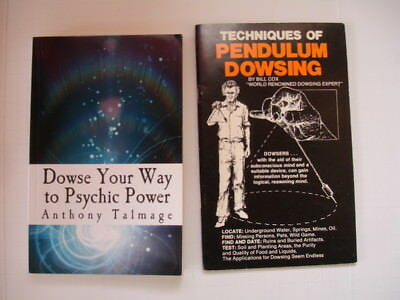 DOWSING BOOK LOT Cox PENDULUM DOWSING + Talmage DOWSE YOUR WAY TO PSYCHIC POWER