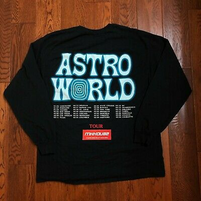 eec38ef64 NEW TRAVIS SCOTT Astroworld Wish You Were Here Tour Merch 2019 L/S T-Shirt  Tee L