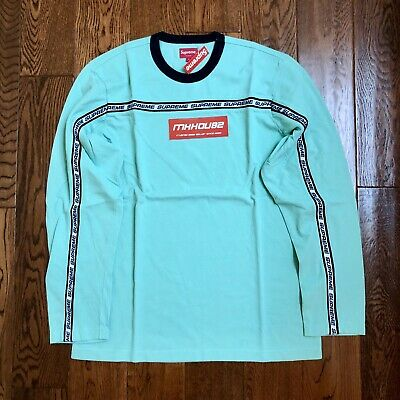 1613dfca NEW SUPREME STRIPE Pique L/S Top Tee T-Shirt Mint Fall Winter 2017 ...