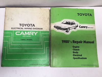 1988 1/2 toyota camry (vzv) oem repair manual and electrical wiring diagram