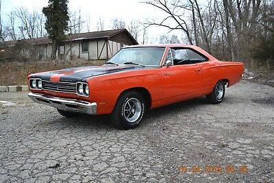1969 Plymouth Road Runner ROADRUNNER 440 4SPD BUCKET SEATS 1969 ROADRUNNER RM23 440 FACTORY 4SPD BUCKETS STRAIGHT BEAUTIFUL ORANGE SHARP