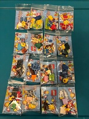 LEGO CMF The Simpsons Series 1  Complete Set of All 16 collectible minifigures