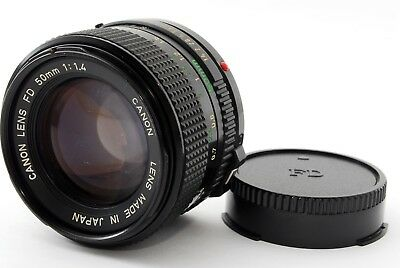 """""""APP Near Mint(AS IS)"""" Canon New FD NFD 50mm F/1.4 MF Prime Lens From Japan #950"""