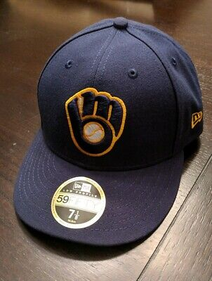 d0c88226 2019 MILWAUKEE BREWERS Hat - New Era 5950 size 7 1/8, Low Profile ...