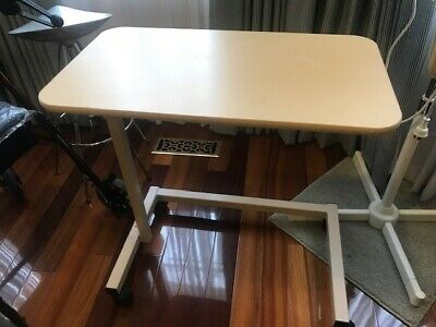 Over Bed Table with Easy Adjustable Height Over the Bed Hospital