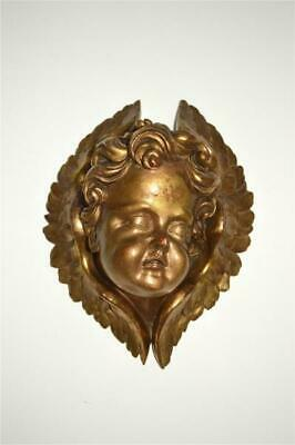Beautiful antique hand carved gilded Angel wall sconce corbel French circa.1880