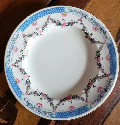 England Saucer George Jones Crescent China Blue Pink Purple Flowers