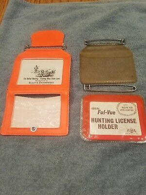 """8/"""" X 3/"""" WINDOW  HME Products Hunting//Fishing 3 STEALTH HUNTING LICENSE HOLDERS"""