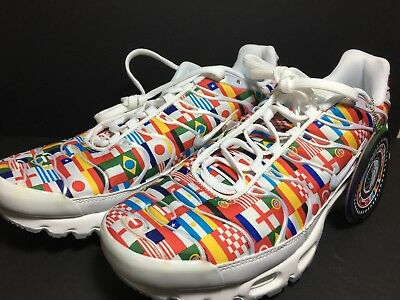 293a18901b Nike Air Max Plus FIFA World Cup International Flag Pack AO5117-100 Sz 10