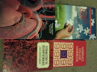 Book Lot Of 4, College Textbooks And Guides