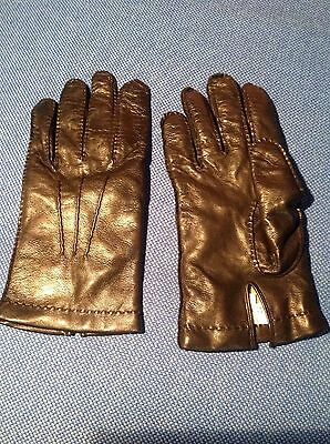 Sermoneta - Black Nappa Leather Mens Gloves - Lined In Cashmere - Sz 9.5