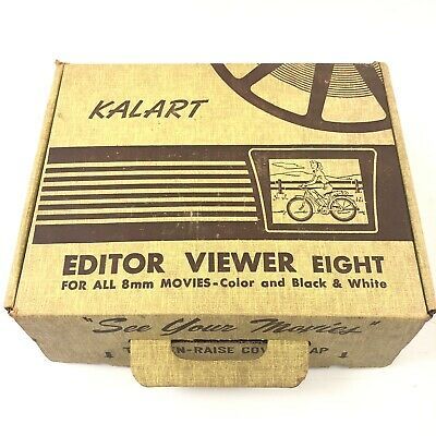 Vintage Kalart Editor Viewer Eight for all 8mm Movies B&W and Color Bakelite