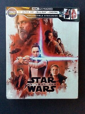 Star Wars The Last Jedi Steelbook (4K Ultra HD/Blu-Ray/Digital) Best Buy SEALED