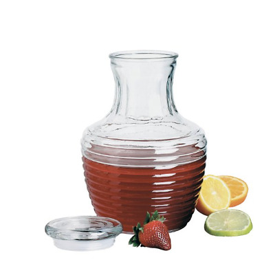 Glass Pitcher With Lid Ice Tea Large Carafe Drink Beverage Water Juice Dispenser