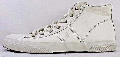 c51002e203 POLO RALPH LAUREN - TREMAYNE - Men's Casual Sneakers - Cream Leather ...