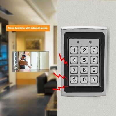 125KHz Top Metal RFID Card Reader Password Door Access Control Keypad Backlight