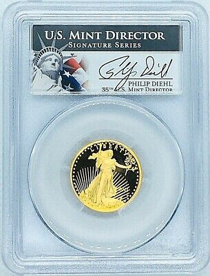 2011 W American Gold Eagle Proof 1/4 oz $10 PCGS PR69 Deep Cameo Diehl Sig Coin