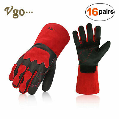 Vgo 1Pair/2Pairs/4Pairs Premium Cow Leather Welding Grill BBQ Gloves(CA6637)