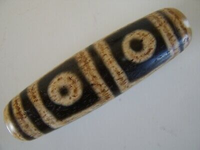 Antique Tibetan Dzi Bead Part Of Old Chinese Collection