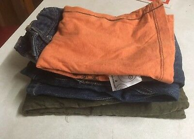 Boys Pants 2 Pairs Denim & Cordaroy Pre Loved, 1 T Shirt All Size 3 Like New