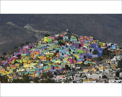 "13469075 10""x8"" (25x20cm) Print of Mexico-Violence-Painted Houses"