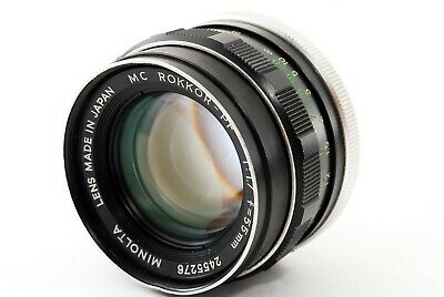 AS IS Minolta MC Rokkor PF 55mm F1.7 MF Standard Prime Lens MD Mount JAPAN #1471