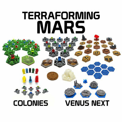3D TILES for TERRAFORMING MARS + EXPANSIONS - PLASTIC - 3D PRINTED. Board Game
