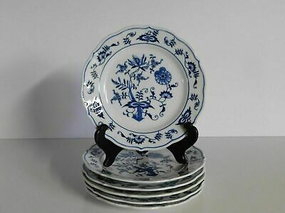 """6 Blue Danube 6 3/4"""" Bread And Butter Plates Set #2"""