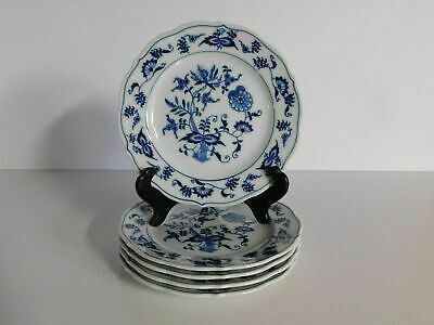 """5 Blue Danube 6 3/4"""" Bread And Butter Plates  Block Mark Set #3"""