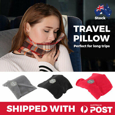 Travel Pillow Portable Soft Comfortable Pillow Neck Support Sitting Nap