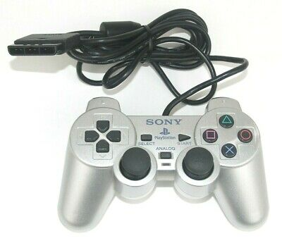 Sony PlayStation 2 PS2 Silver DualShock 2 Official Analog Controller Tested