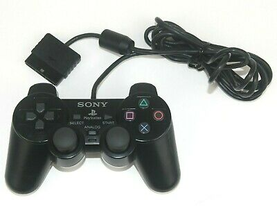 Sony Playstation 2 Dualshock 2 Controller Black Official PS2 Analogue Wired