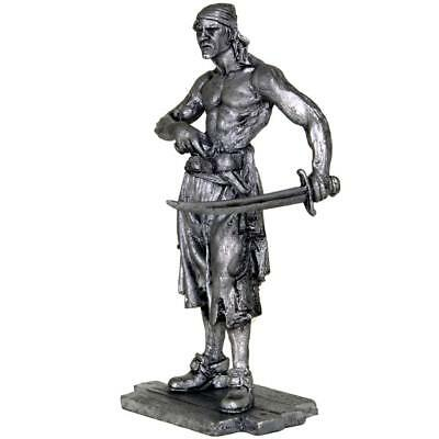 Pirate with saber. Tin toy soldiers. 54mm miniature figurine. metal sculpture