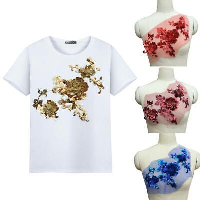3D Spitze Applique Pailletten Blume Stickerei DIY T-Shirt Kleider Dekoration