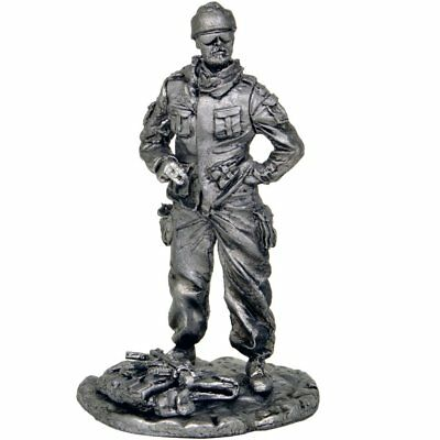 *Polish NATO soldier in Afghanistan* Tin toy soldiers. 54mm miniature figurine