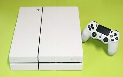 Sony Playstation 4 Weiss Konsole 500 GB mit original PS4 Controller CUH 1216A