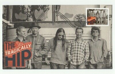 THE TRAGICALLY HIP = music band, record, single stamp FDC, OFDC, Canada 2013