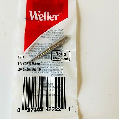 Weller/Cooper Industries ETO 1/32 0.8 MM Inch Long Conical Tip Replacement