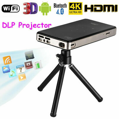4K Smart DLP Mini Projector Android WiFi Bluetooth 1080P 8G Home Theater HDMI AU