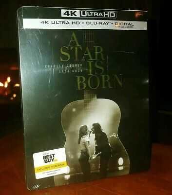 A STAR IS BORN (2018, 4K Ultra HD+Blu-ray+Digital) STEELBOOK-BRAND NEW & SEALED