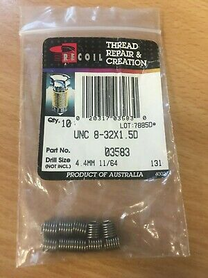 Recoil 03583 Free-Running Coil Threaded Insert, #8-32 UNC, x 1.5D x 100