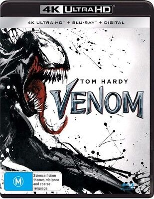 Venom 4K ULTRA HD (Blu-ray, 2019, 2-Disc Set) NEW