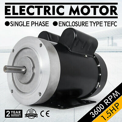 Electric Motor 3//4 HP 1 Phase 1800 RPM 5//8 inch shaft 60 Hz Waterproof SHDC