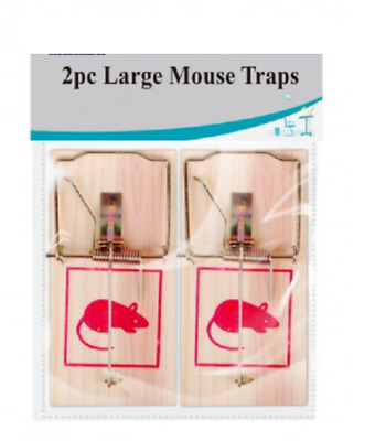 Wooden Rat Mouse Trap Rodent Pest Easy Control Bait Traps Catcher Killer Cheese