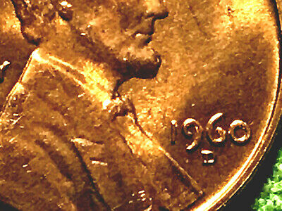 1960-D Lincoln Penny One Cent 1c  ~ Rare D over D Mintmark BU COIN ~ 02BF