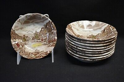 Johnson Brothers Olde English Countryside Set of 10 Fruit Dessert Sauce Bowls